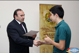 Levon Mkrtchyan, Minister of Education and Science, Awards Republic Olympiad 1st Prize Winning Students